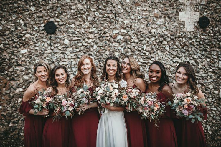 Bridesmaids In Rewritten | Cold Shoulder Wedding Dresses | Chianti Bridesmaids Dresses