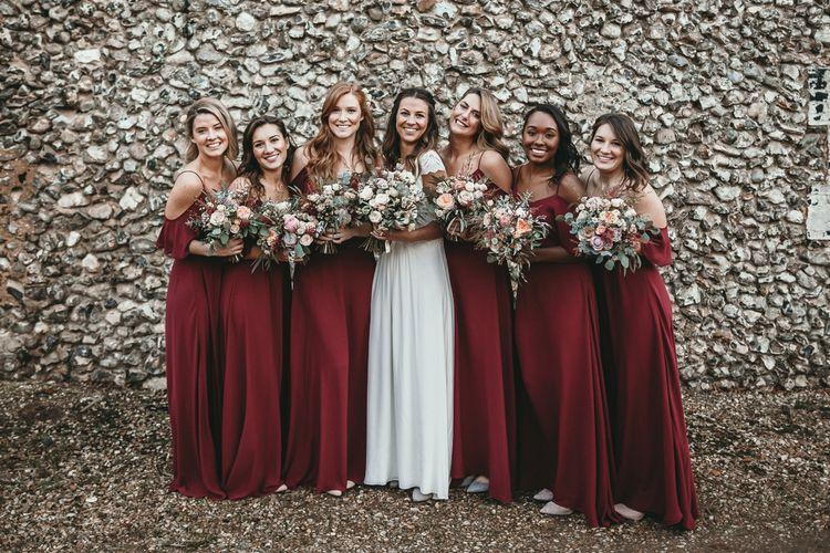Rewritten Bridesmaids Dresses | Cold Shoulder Bridesmaids Dresses