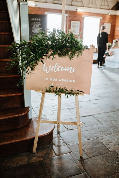 Rustic Welcome Sign For Wedding