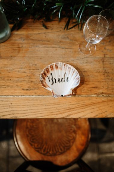 Shell Name Place For Wedding