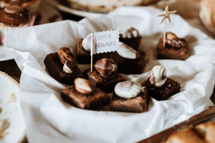 Chocolate Brownies For Wedding Dessert Table
