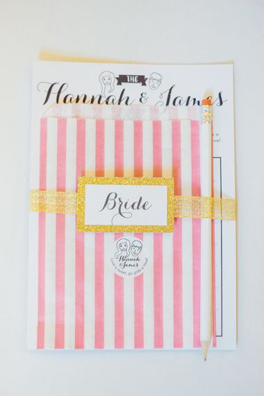 Candy Striped Place Setting Wedding