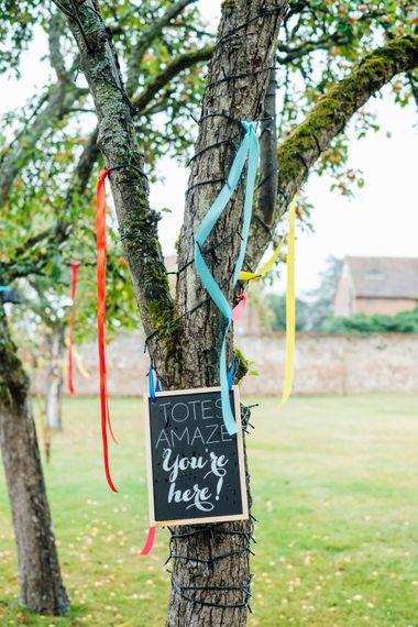 Rainbow Ribbon Wedding Decor