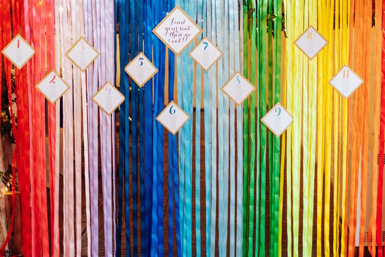 Rainbow Wedding Decor