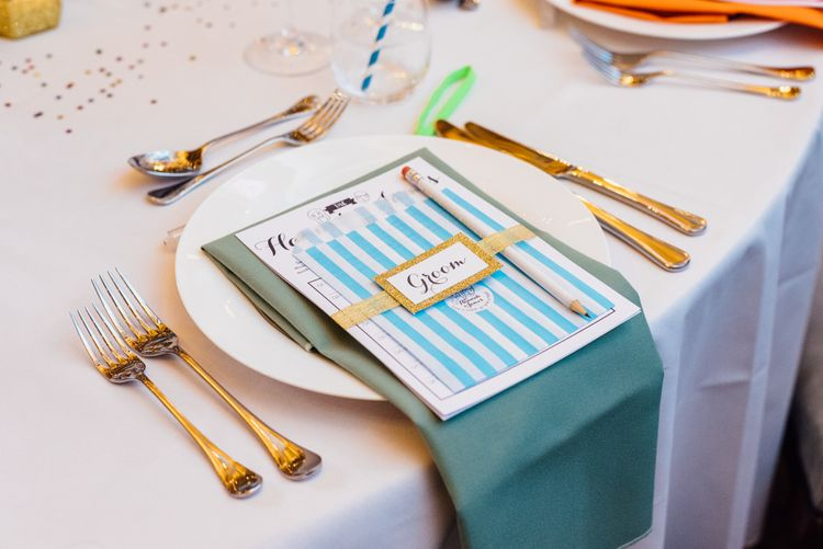 Candy Striped Place Setting