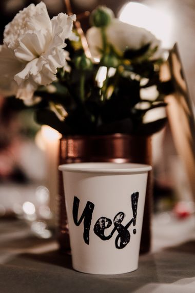 Copper Tin Can & White Flower Decor | Paul & Nanda Photography