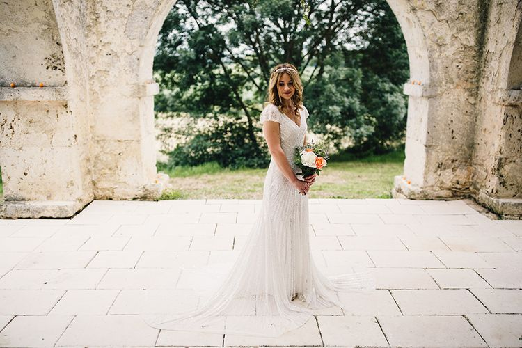 Bride in Eliza Jane Howell Gown