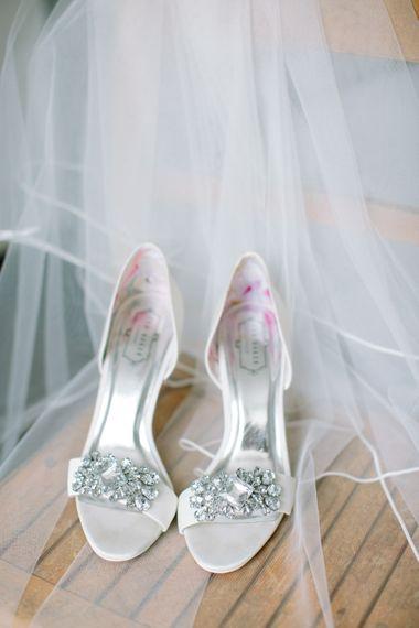 Jewel Encrusted Wedding Shoes   Stylish Hackney Town Hall Wedding   Camilla Arnhold Photography   This Modern Revelry Film