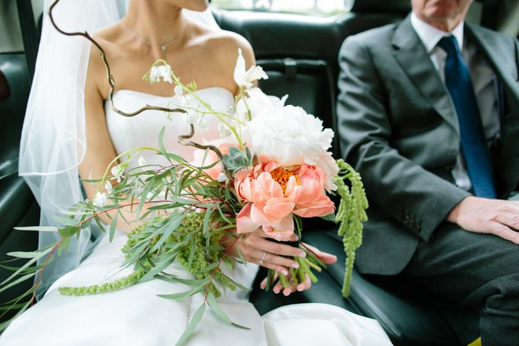 Blush Bouquet   Stylish Hackney Town Hall Wedding   Camilla Arnhold Photography   This Modern Revelry Film