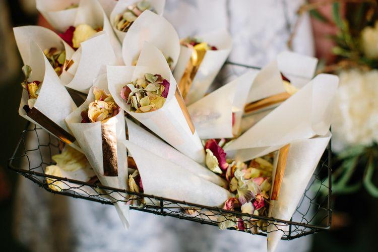 Confetti Cones   Stylish Hackney Town Hall Wedding   Camilla Arnhold Photography   This Modern Revelry Film