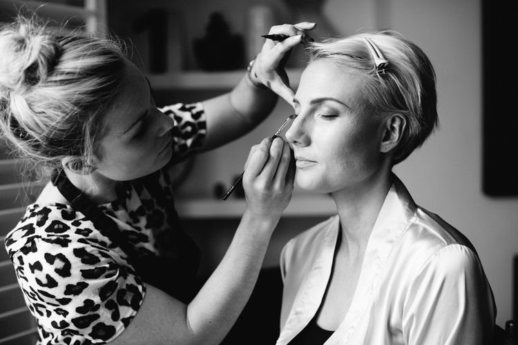 Bridal Makeup   Stylish Hackney Town Hall Wedding   Camilla Arnhold Photography   This Modern Revelry Film