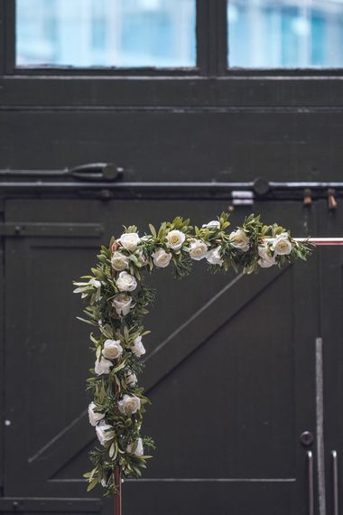 Floral Arch | Contemporary City Wedding at People's History Museum & Hope Mill Theatre, Manchester Planned by Alternative Weddings MCR | Babb Photography