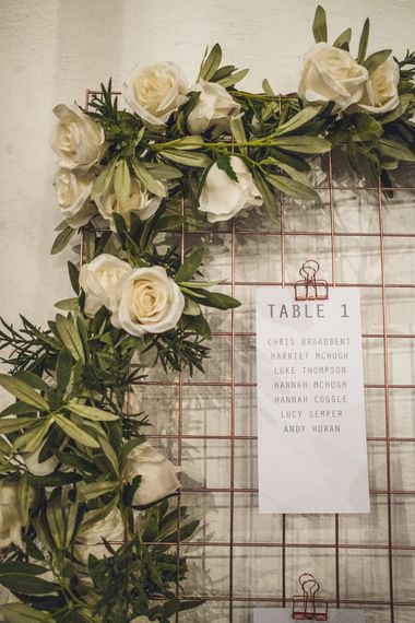 Copper Wire Table Plan | Contemporary City Wedding at People's History Museum & Hope Mill Theatre, Manchester Planned by Alternative Weddings MCR | Babb Photography