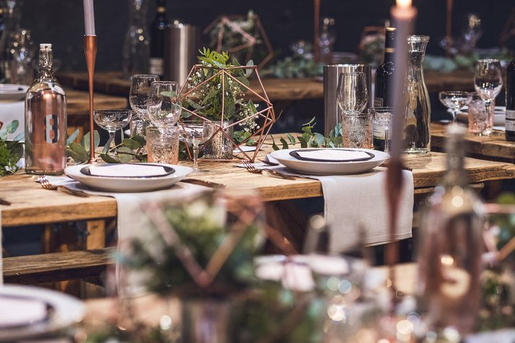 Tablescape | Contemporary City Wedding at People's History Museum & Hope Mill Theatre, Manchester Planned by Alternative Weddings MCR | Babb Photography