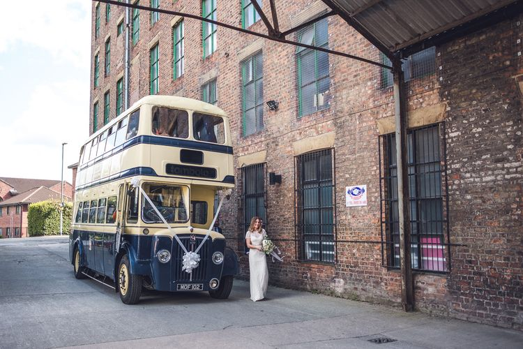 Vintage Bus | Contemporary City Wedding at People's History Museum & Hope Mill Theatre, Manchester Planned by Alternative Weddings MCR | Babb Photography