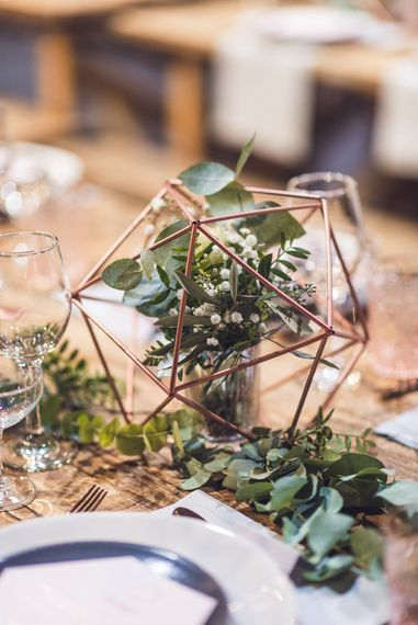 Copper Geometric Wedding Decor | Contemporary City Wedding at People's History Museum & Hope Mill Theatre, Manchester Planned by Alternative Weddings MCR | Babb Photography