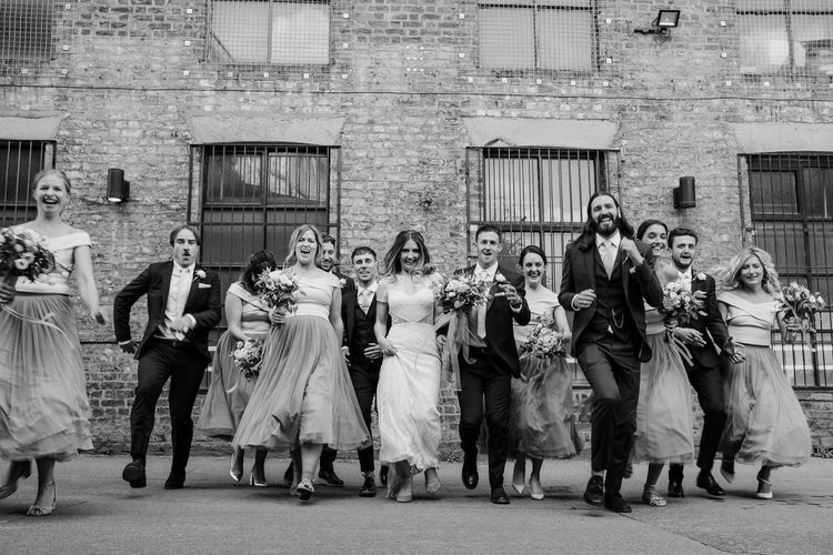 Wedding Party | Contemporary City Wedding at People's History Museum & Hope Mill Theatre, Manchester Planned by Alternative Weddings MCR | Babb Photography