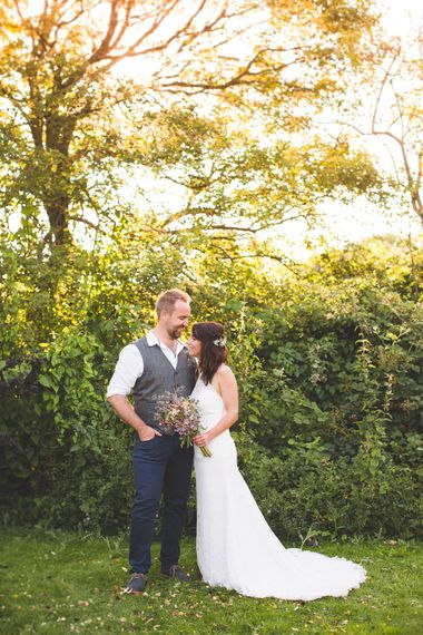 Festival Inspired DIY Wedding With Relaxed Dress Code Hay Bale Seating For Ceremony And Garden Games With Images From Livvy Hukins Photography