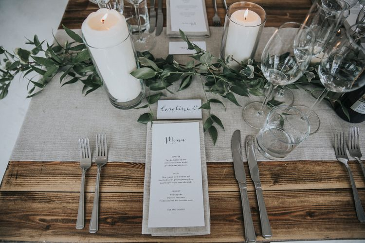 Stylish Place Setting For Industrial Wedding London