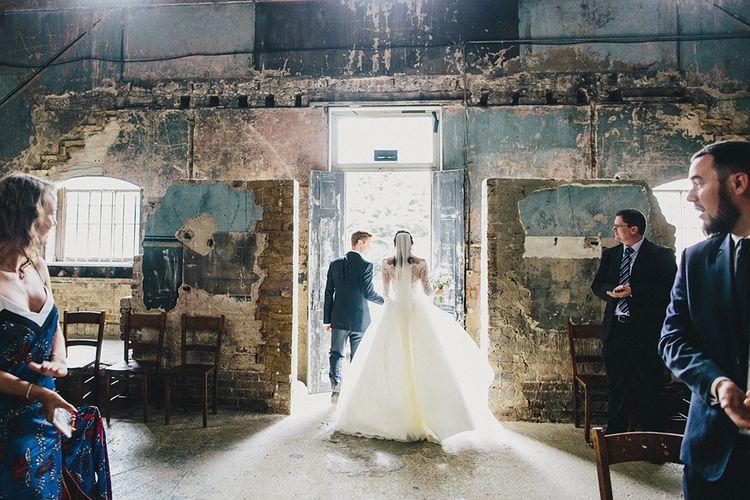 Bride In Stephanie Allin Wedding Dress