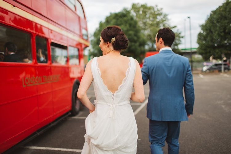 Bride & Groom Red Routemaster Bus