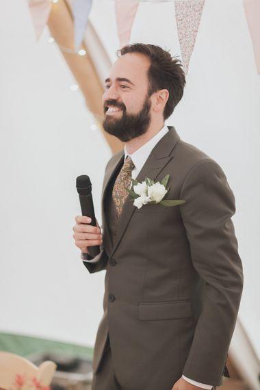 Groom In Bespoke Suit By Hong Kong Tailors
