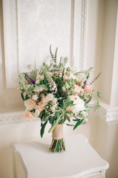 Romantic Bridal Bouquet by Ruby & Grace Florist | Elegant, Pastel Wedding at Hedsor House, Buckinghamshire | M & J Photography | Shoot It Yourself Films