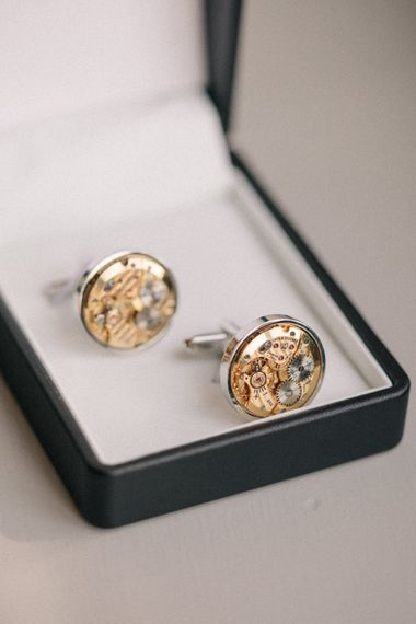 Cufflinks | Elegant, Pastel Wedding at Hedsor House, Buckinghamshire | M & J Photography | Shoot It Yourself Films