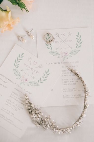 Ivory & Co Hair Vine | Elegant, Pastel Wedding at Hedsor House, Buckinghamshire | M & J Photography | Shoot It Yourself Films