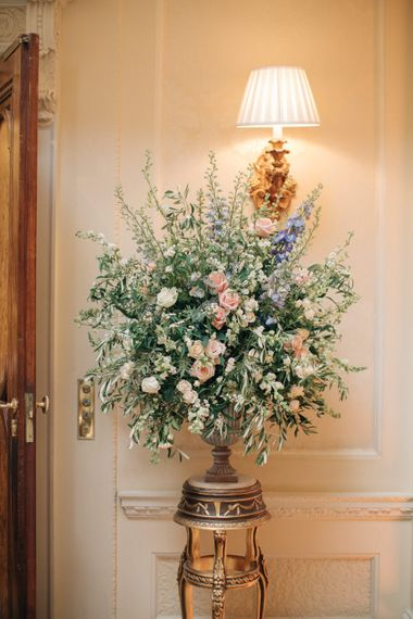 Pastel Floral Arrangement | Elegant, Pastel Wedding at Hedsor House, Buckinghamshire | M & J Photography | Shoot It Yourself Films
