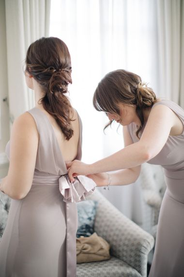 Lavender ASOS Bridesmaid Dresses | Elegant, Pastel Wedding at Hedsor House, Buckinghamshire | M & J Photography | Shoot It Yourself Films