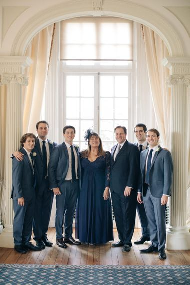 Groomsmen in Navy J. Crew Suits | Elegant, Pastel Wedding at Hedsor House, Buckinghamshire | M & J Photography | Shoot It Yourself Films