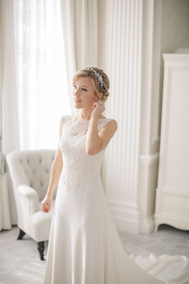 Beautiful Bride in Pronovias Gown | Elegant, Pastel Wedding at Hedsor House, Buckinghamshire | M & J Photography | Shoot It Yourself Films