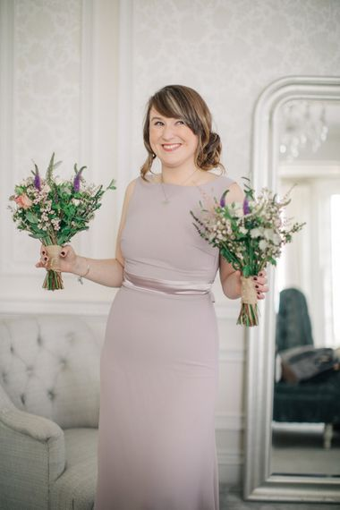 Bridesmaid in Heather ASOS Dress | Elegant, Pastel Wedding at Hedsor House, Buckinghamshire | M & J Photography | Shoot It Yourself Films