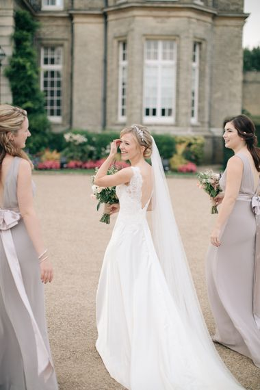 Bridesmaids in Lavender ASOS Dresses | Bride in Pronovias Gown | Elegant, Pastel Wedding at Hedsor House, Buckinghamshire | M & J Photography | Shoot It Yourself Films
