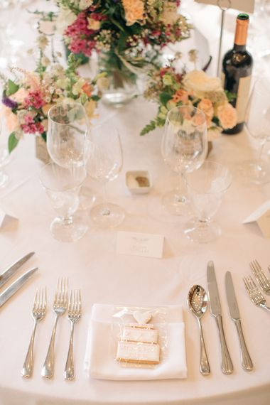 Place Setting | Elegant, Pastel Wedding at Hedsor House, Buckinghamshire | M & J Photography | Shoot It Yourself Films