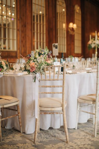 Reception Decor | Elegant, Pastel Wedding at Hedsor House, Buckinghamshire | M & J Photography | Shoot It Yourself Films