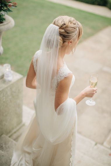 Bride in Pronovias Gown | Elegant, Pastel Wedding at Hedsor House, Buckinghamshire | M & J Photography | Shoot It Yourself Films