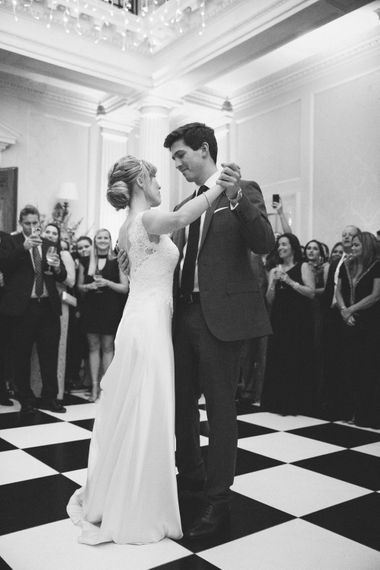 First Dance | Bride in Pronovias Gown | Groom in Navy J.Crew Suit | Elegant, Pastel Wedding at Hedsor House, Buckinghamshire | M & J Photography | Shoot It Yourself Films