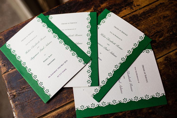 Green Wedding Stationery