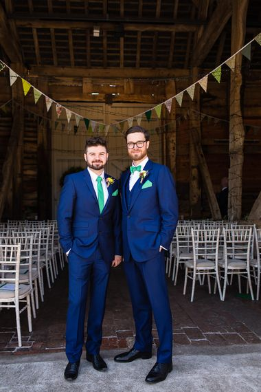 Groom In Navy Suit by Cad & The Dandy