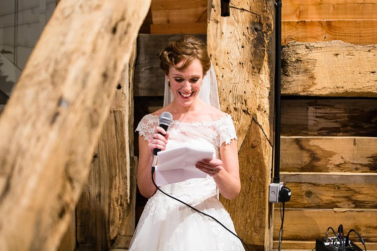 Bride Making A Speech