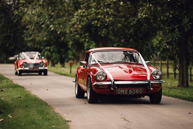 Red Vintage Wedding Car