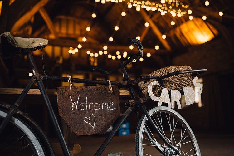 Vintage Bicycle Wedding Cards Display