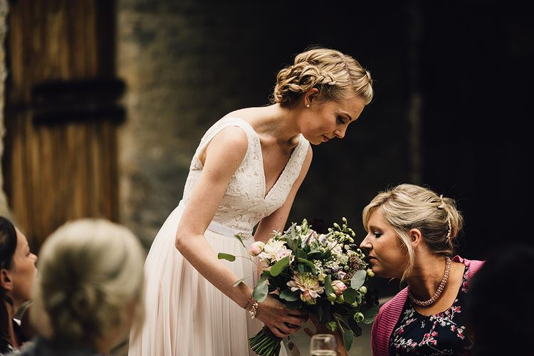 Bride in Catherine Deane Tamsin Wedding Dress