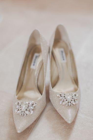 Dune Jewel Encrusted Bridal Shoes