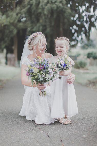 Mother & Daughter Bride & Flower Girl