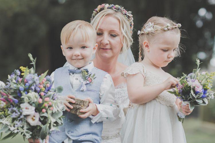 Bride & Flower Girl & Page Boy Children