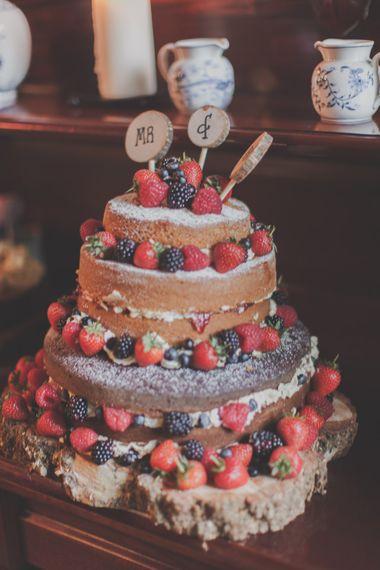 Victoria Sponge Naked Wedding Cakes