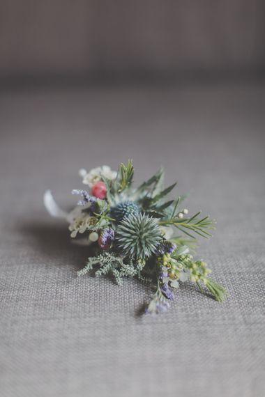 Rustic Wild Flower Buttonhole